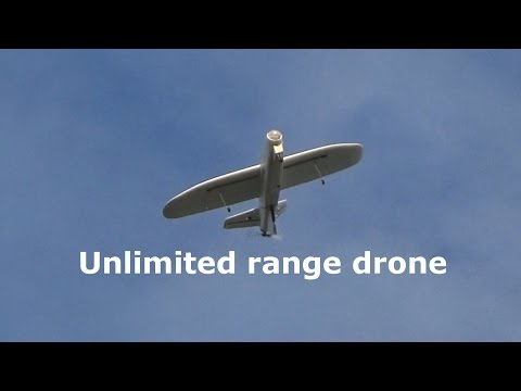 Solar drone unlimited range