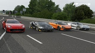 Forza 7 Drag race: Ferrari 812 Superfast vs McLaren 720s vs Centenario vs Porsche 918 Spyder