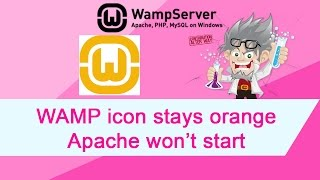WAMP Icon stays orange   Apache not starting