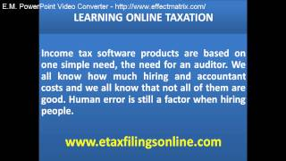 LEARNING ONLINE TAXATION | Online IRS Taxation 2016