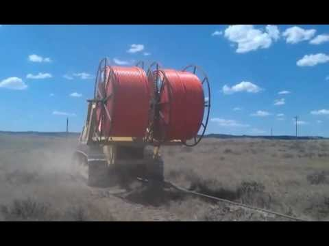TerraSpan Utility Plow Train - Fiber Duct Plowing - Eastern Wyoming : Komatsu Cable Plow