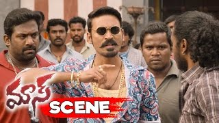 Dhanush Warns Police Officer Vijay Yesudas Action Scene Maari Movie Scenes