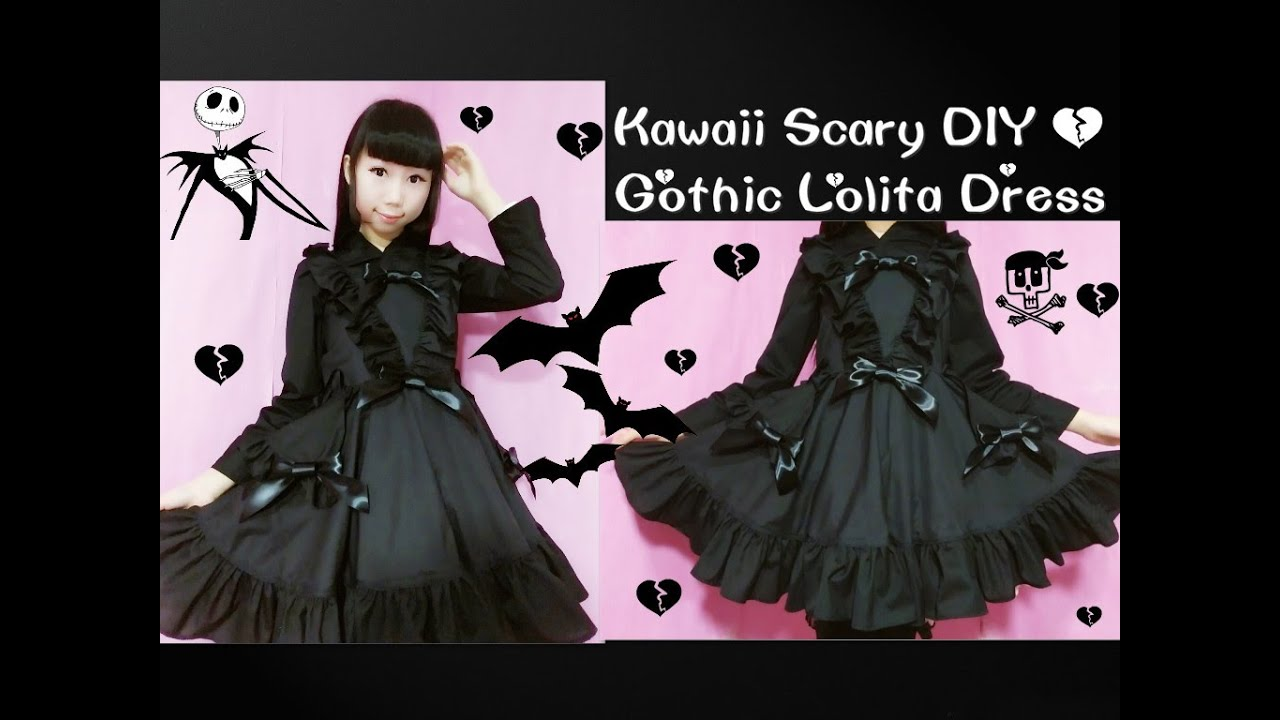 Kawaii scary diy how to sew gothic lolita dresscurtain style kawaii scary diy how to sew gothic lolita dresscurtain style front skirt easy youtube solutioingenieria Gallery