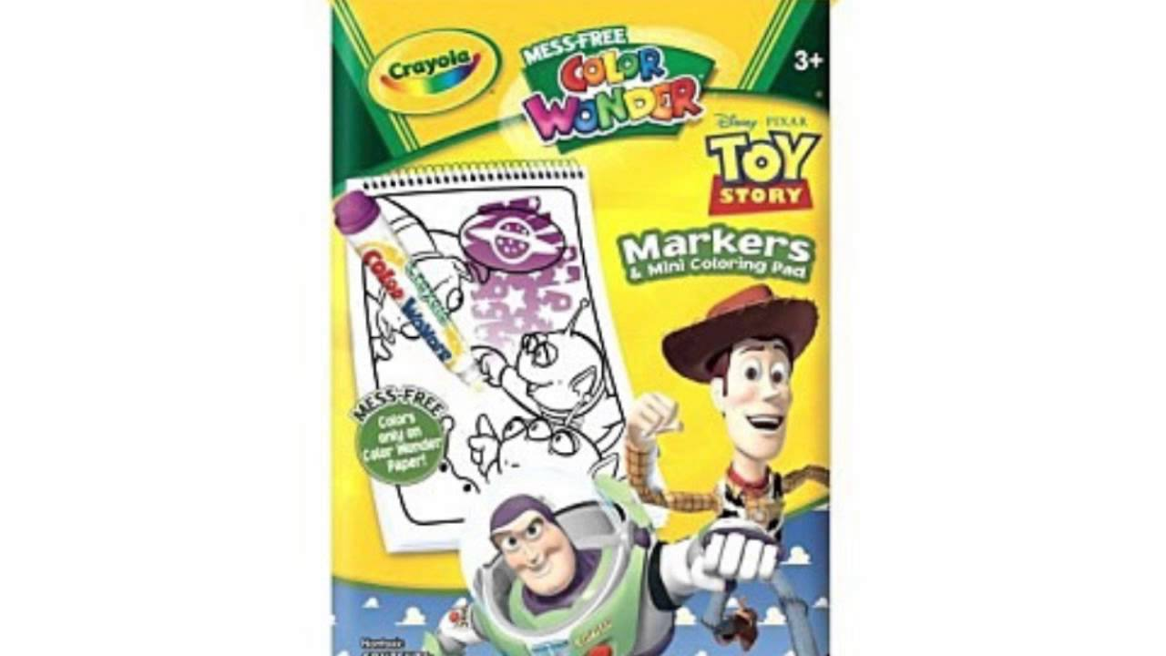 Crayola Color Wonder Toy Story Mini Coloring Pad - YouTube