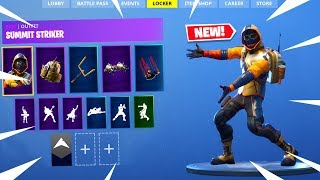 NEW SECRET SKIN IN FORTNITE BATTLE ROYALE! Summit Striker Skin Gameplay!