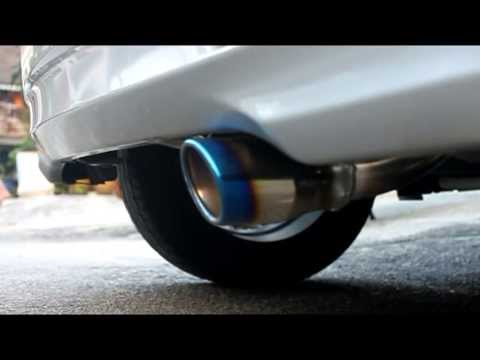 myvi exhaust= 41 D sport, bullet, steel piping, s flow