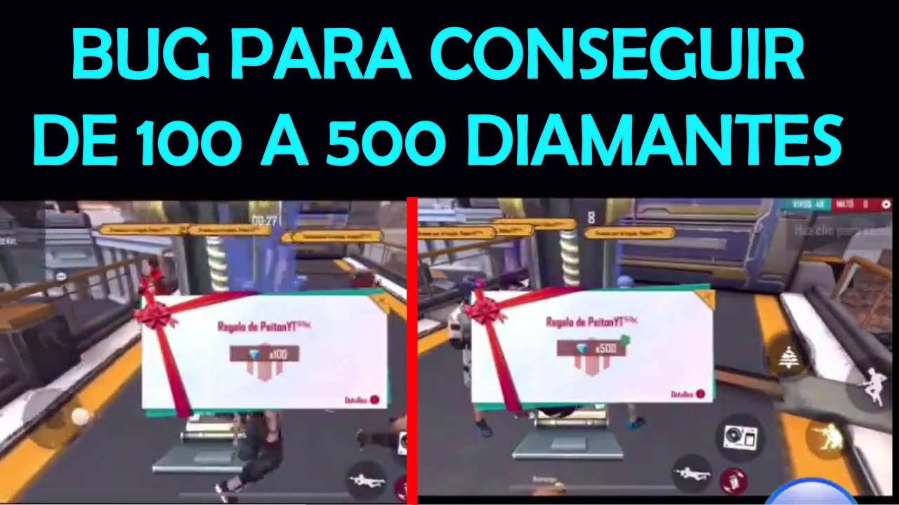BUG PARA CONSEGUIR DE 100 A 500 DIAMANTES DE MANERA FACIL-BUG TO GETFROM 100 TO 500 DIAMONDS-FREEFIR