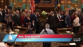 Sen. Barrett sworn in as Michigan senator