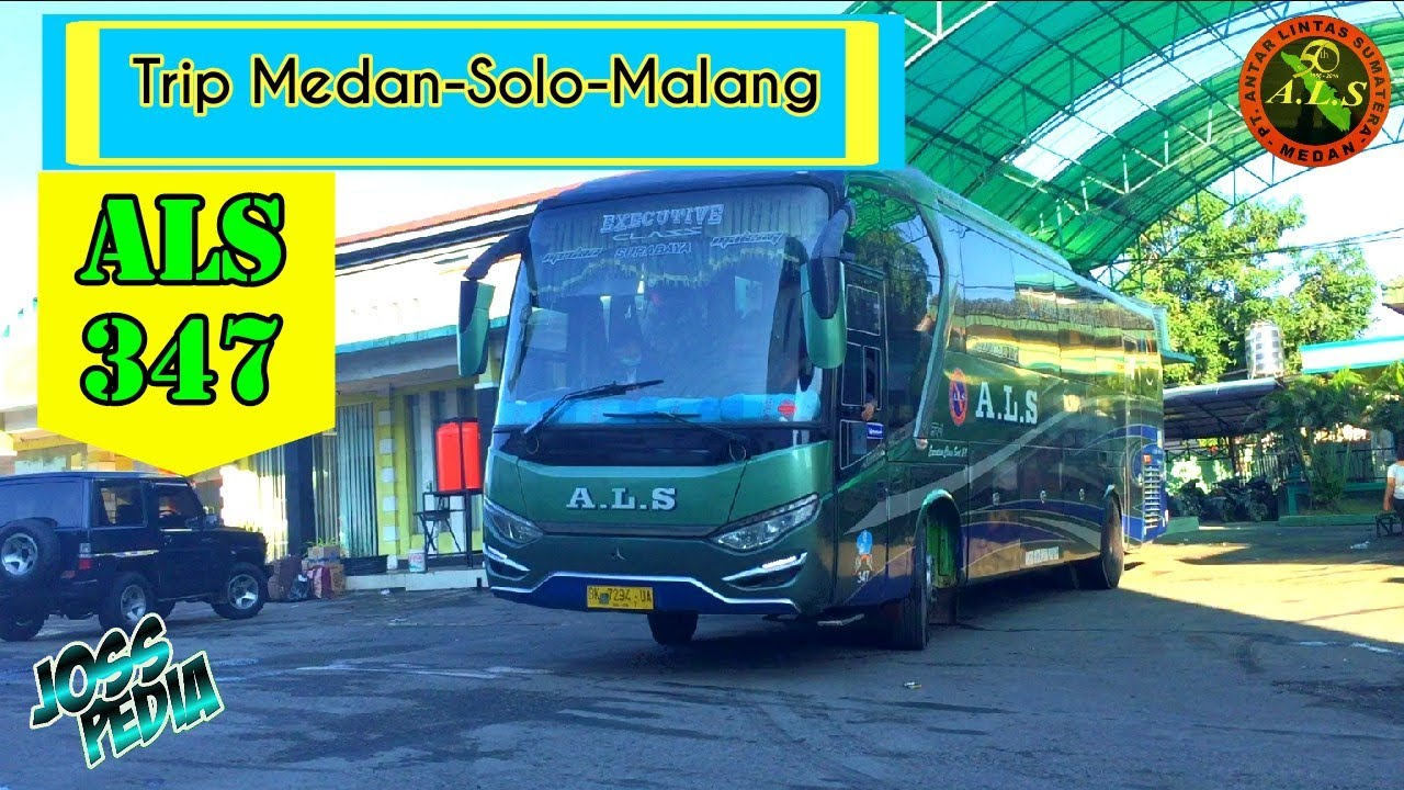 Bus ALS 347 trip Medan - Solo - Malang via P.Baru Lintas Tengah | Patas JATIM Executive Class 2-2