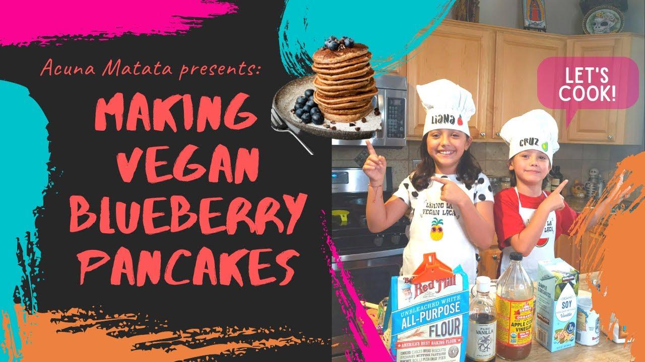 Making Vegan Blueberry Pancakes