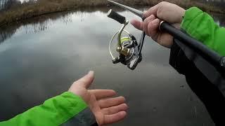 Первая рыбалка 2020 года Окунь на малой реке НАНО ДЖИГ