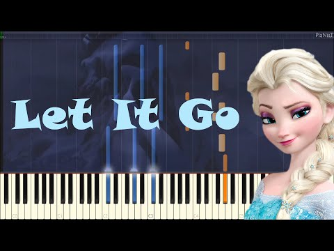 Idina Menzel - Let It Go (Frozen) (Piano - Synthesia)
