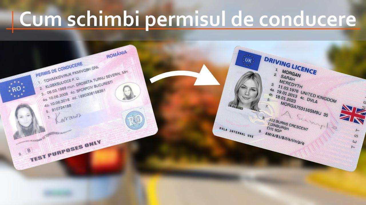 Informat in UK: Cum schimbi permisul de conducere romanesc cu cel britanic