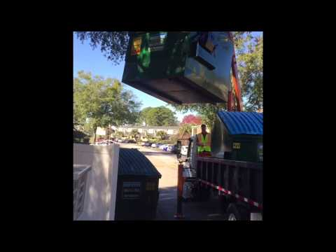 Waste Pro CP-3 Container Transport Demo