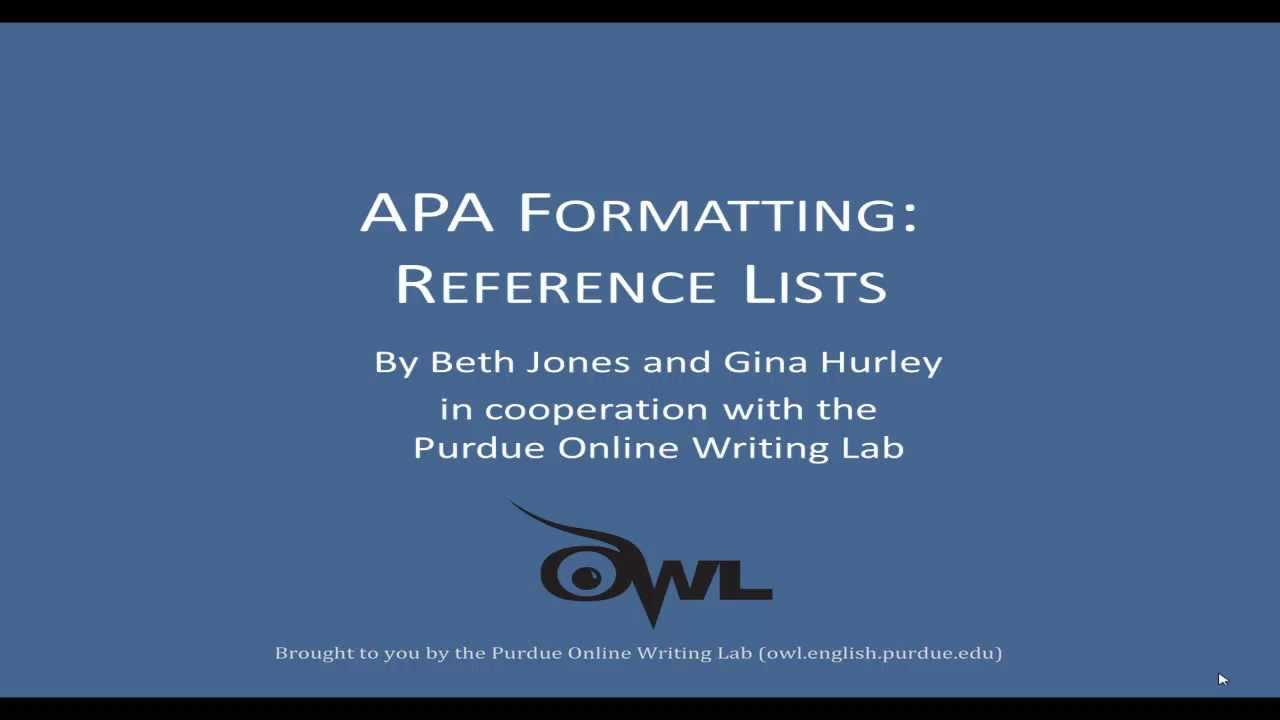 Apa Reference Lists: A More Detailed Explanation