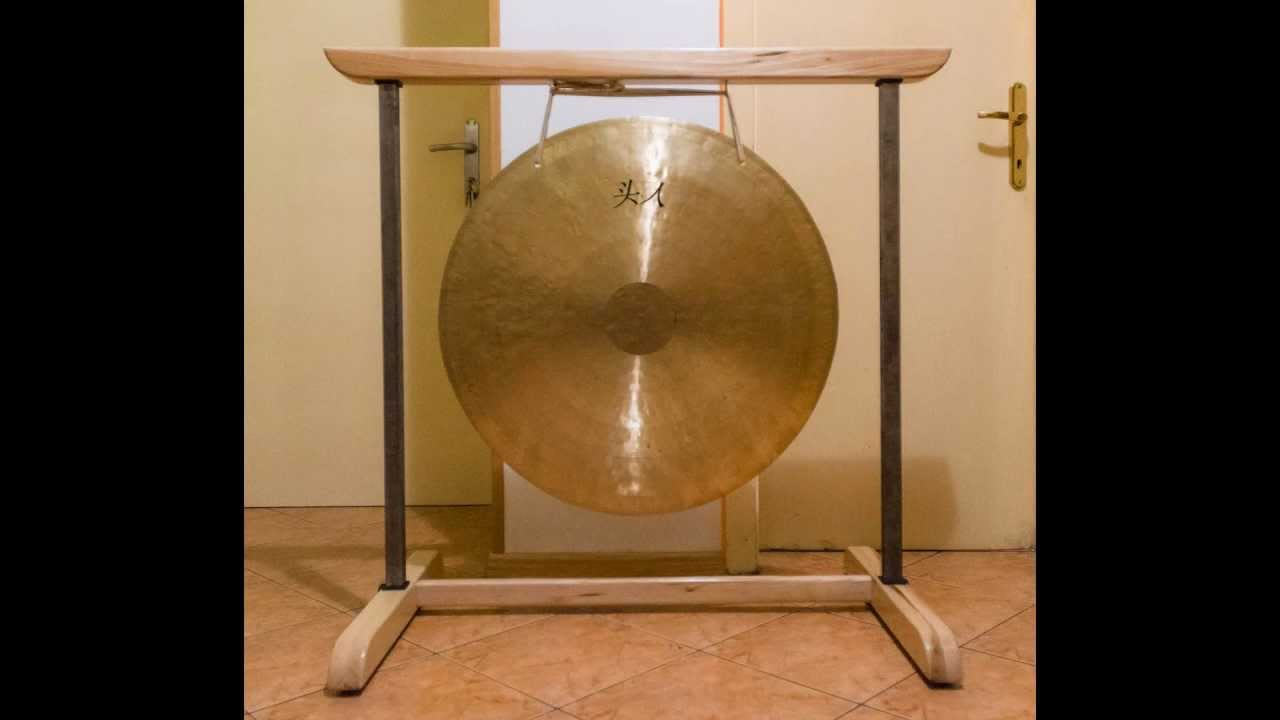 homemade gong stand youtube. Black Bedroom Furniture Sets. Home Design Ideas