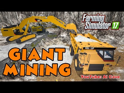 Farming Simulator 2017 Mods - Caterpillar Giant Mining Equipment | Hauling Road to a Stone Quarry