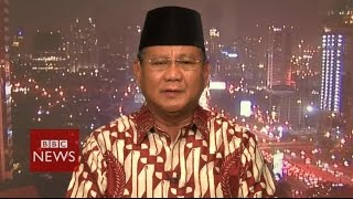 Video 'Man of the people is an act' says Subianto about Widodo - Indonesia elections - BBC News download MP3, 3GP, MP4, WEBM, AVI, FLV Oktober 2017