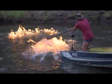 A RIVER ON FIRE! Gas explodes from Australian river near fra