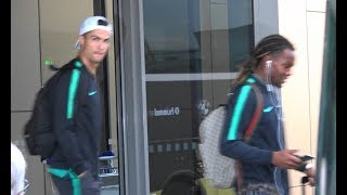 Cristiano Ronaldo and Portugal national team lands in Lithuania