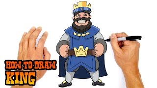 How to Draw King (Clash Royale)- Step by Step Art Lesson