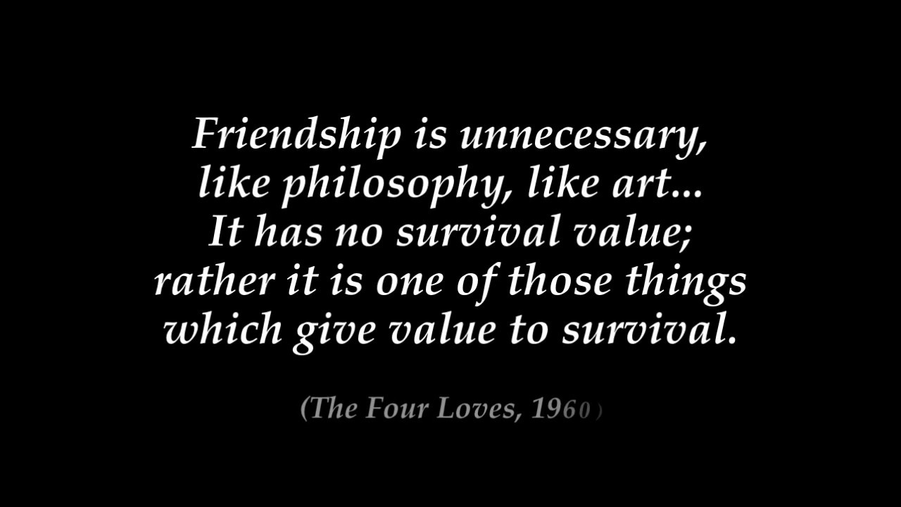 Cs Lewis Quote About Friendship Cslewis  Top 10 Quotes  Youtube