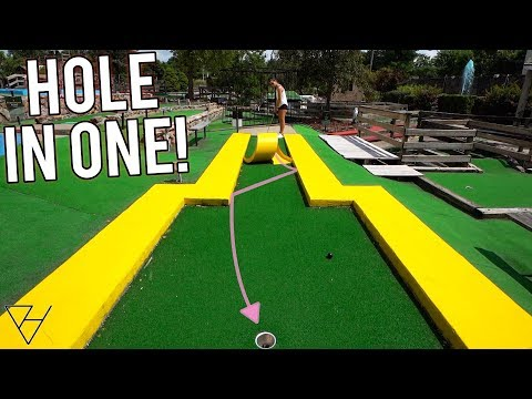 EPIC Mini Golf Hole In One Bounce And Crazy Holes!