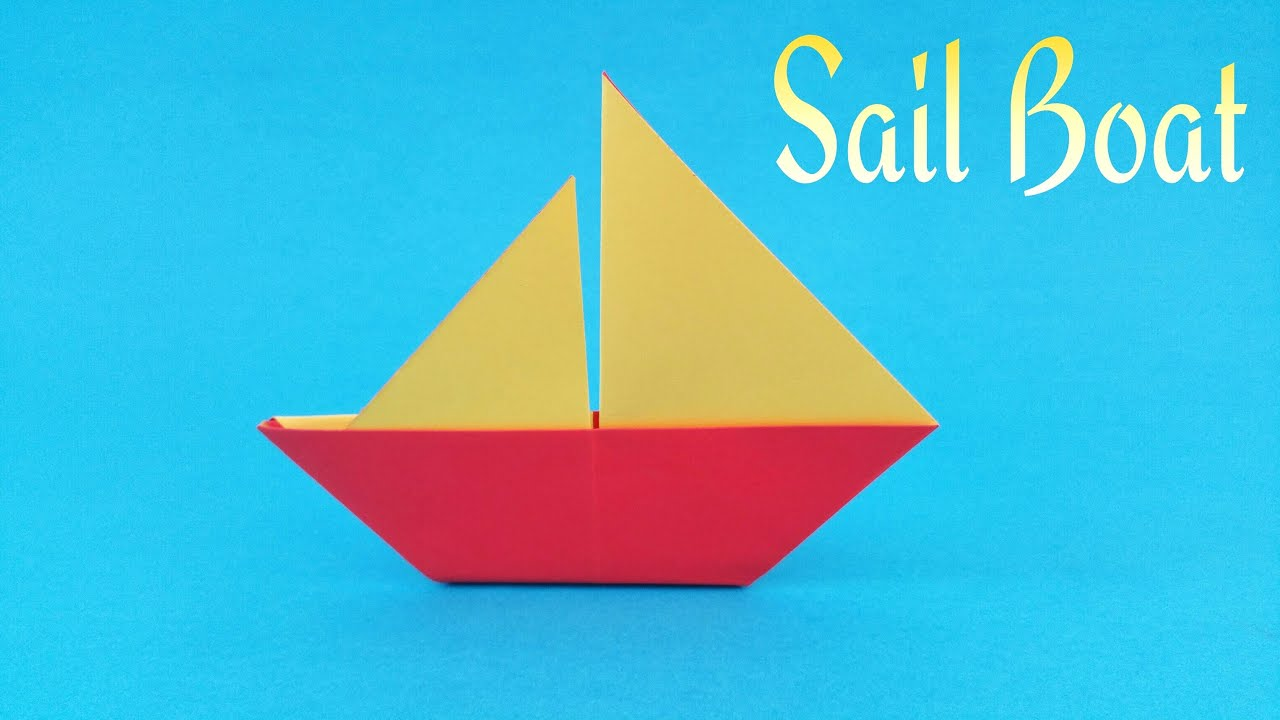 Making a simple boat out of paper with children 32