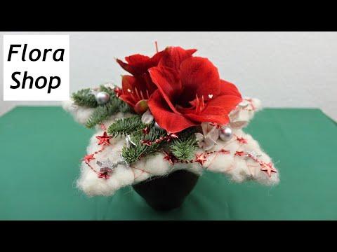 Adventsfloristik ❁ Weihnachtsstrauß selber machen ❁ Deko Ideen mit Flora-Shop
