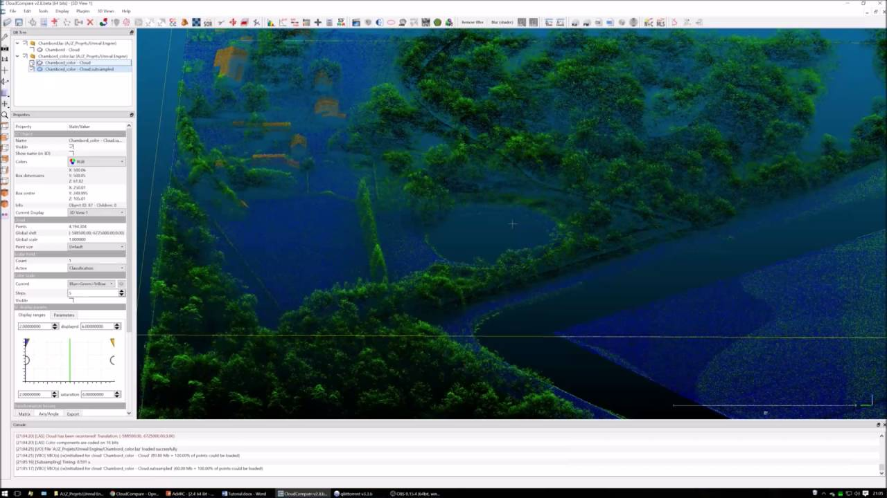 Unreal Engine 4: Point Cloud processing