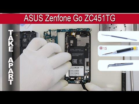 Как разобрать 📱 ASUS Zenfone Go ZC451TG Разборка и ремонт