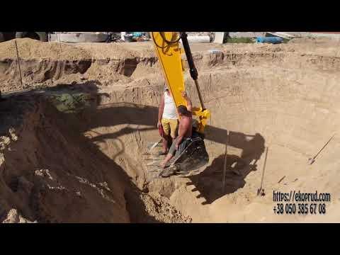 Строительство пруда для осетра с островом (часть 1)