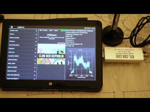 welle io DAB+/DAB software radio (RTL-SDR , RTL2832U, airspy)