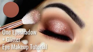 Beginners Eye Makeup Tutorial Using One Matte and One Glitter Liner | How To Apply Eyeshadow