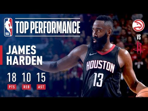 James Harden Drops 4th Triple Double vs Atlanta