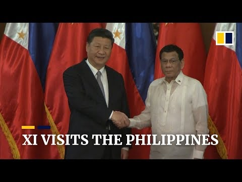 President Xi Jinping visits the Philippines and met President Rodrigo Duterte in Manila