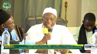 Discours de Serign Ishaqa Mbacké (Cérémonie d'ouverture du Séminaire du Comité Scientifique du CCAK)