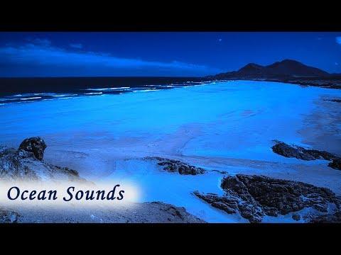 Distant Ocean Sounds for Deep Sleeping - Empty Beach at Night for Peaceful Sleep