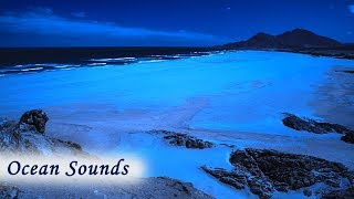 Distant Ocean Sounds for Deep Sleeping - Empty Beach at Night for Peaceful Sleep