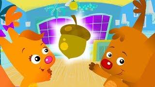 Gizlemek ve Çocuklar için Aramak Sammy & Eve   İle Çocuklar Çizgi film Oyunları ABC Eğlenceli Acorn Bul  