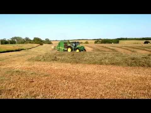 Baling brome hay in Kansas