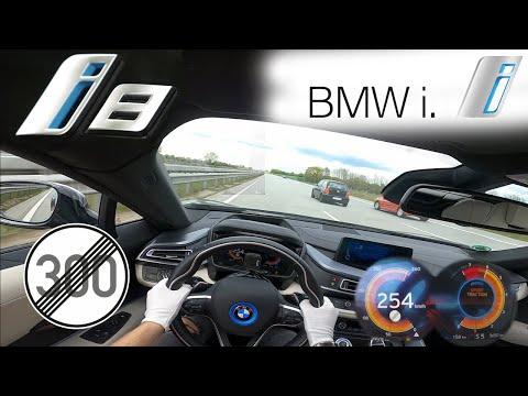 BMW i8 ACCELERATION TOP SPEED NO LIMIT AUTOBAHN POV TESTDRIVE GERMANY