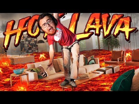FALLING on the EXTREMELY HOT LAVA FLOOR | Hot Lava