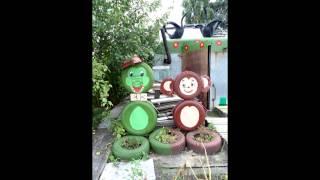 видео Поделки из покрышек для сада: животные, фигуры