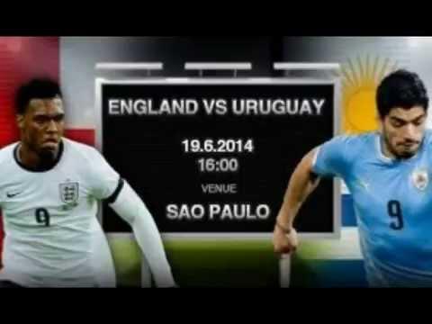 WORLD CUP BRAZIL 2014 Uruguay vs England HQ