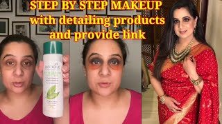Parul garg Self Makeup Tutorial for Affordable products|Bridal makeup/Makeup by Parul garg