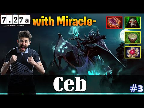 Ceb - Abaddon Offlane   with Miracle (Terrorblade)   Dota 2 Pro MMR Gameplay #3