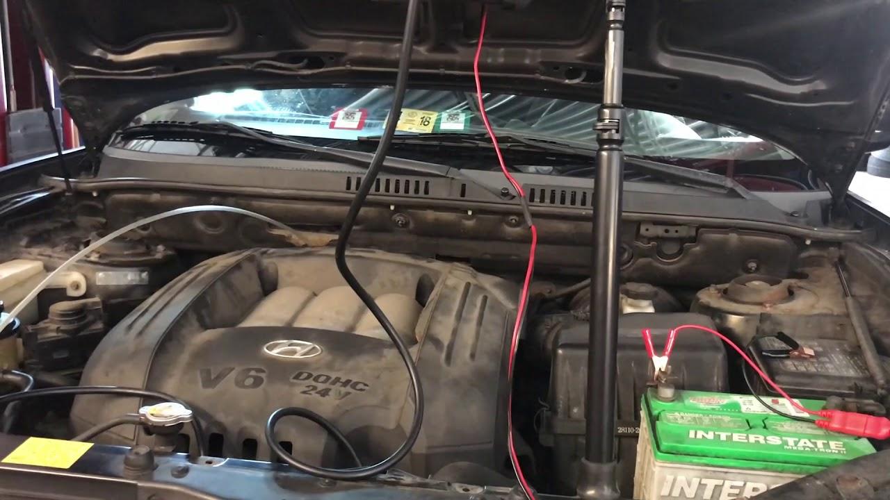 2003 Hyundai Santa Fe 2.7L Evap Large leak (p0455) - YouTube