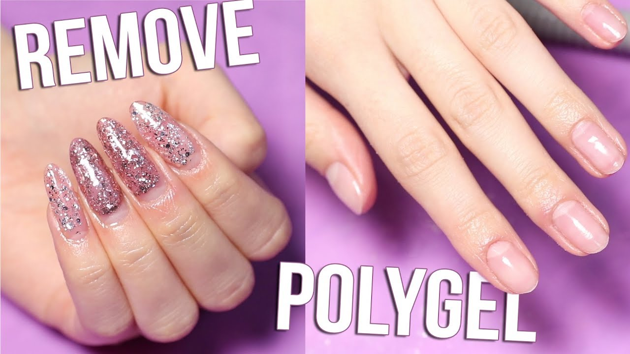 How I Remove Polygel Nails Youtube
