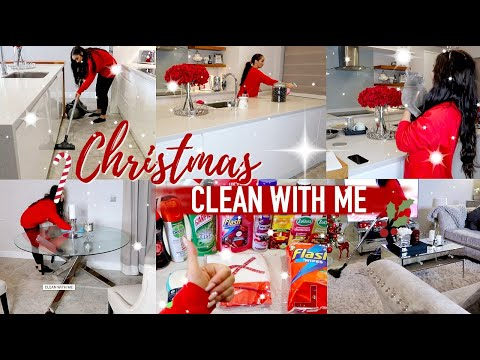 CHRISTMAS CLEAN WITH ME || EXTREME CLEANING MOTIVATION || FESTIVE ALL DAY CLEAN